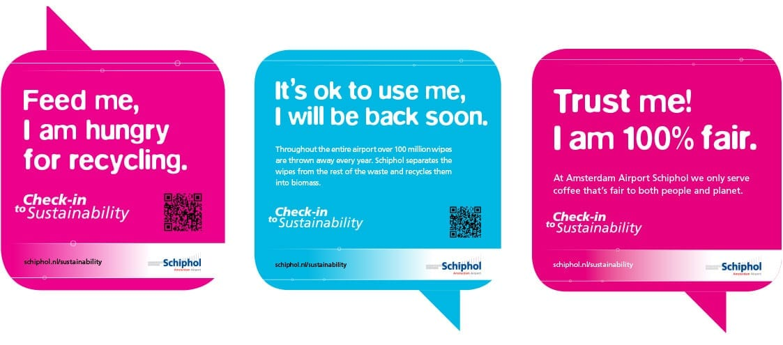 Schiphol website check in to sustainability
