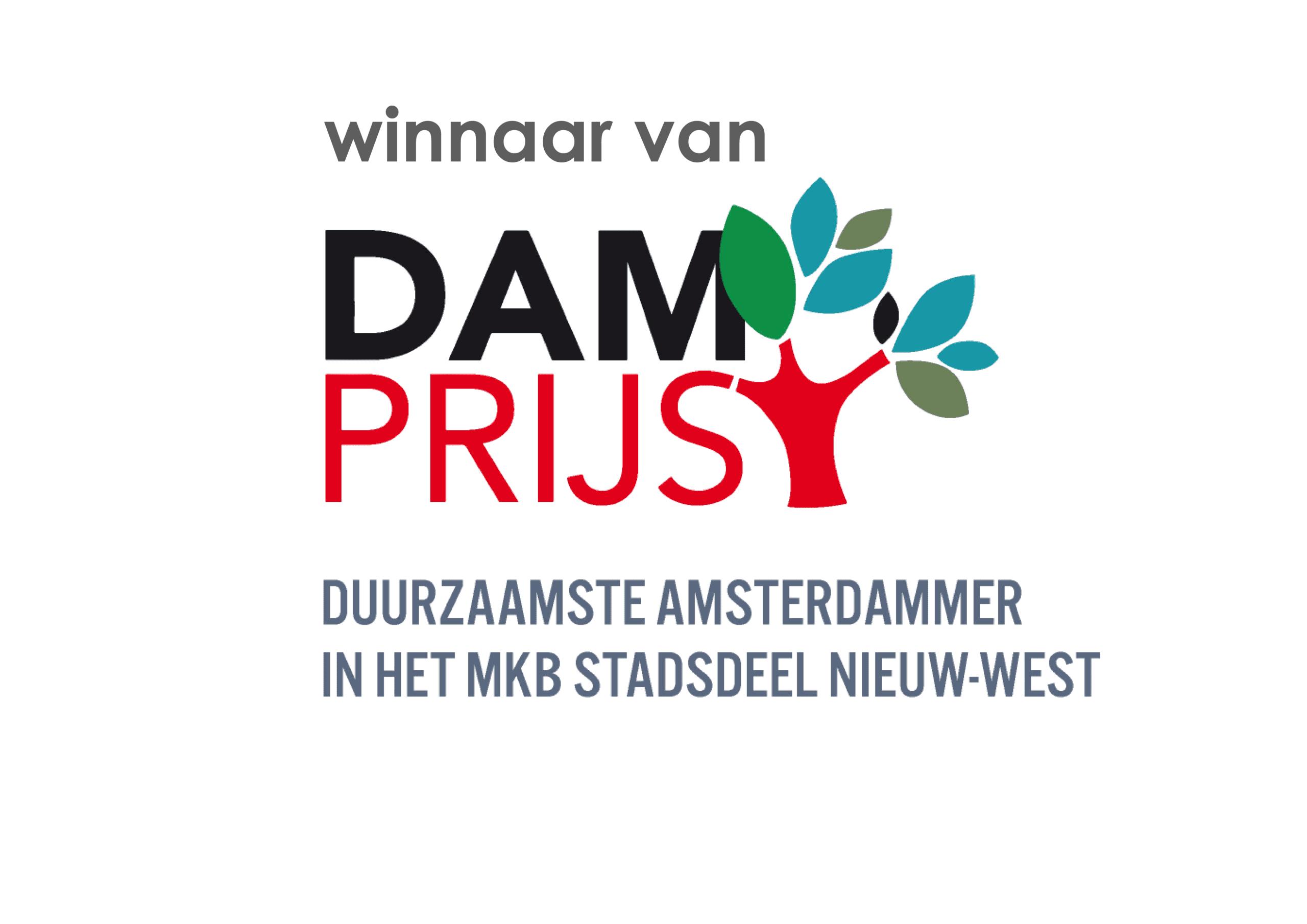 Branding A Better World is winnaar van Dam Prijs - Duurzaamste Amsterdammer in het MKB stadsdeel Nieuw-West